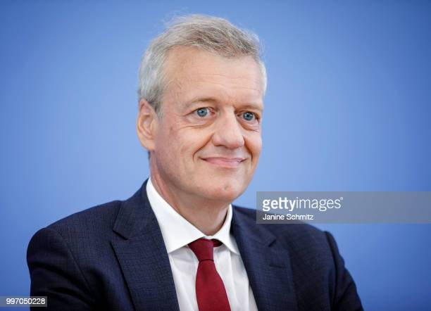 Ferdinand M Gerlach Chairman of the German Council of Experts for the Assessment of Healthcare Development is pictured during a press conference to...