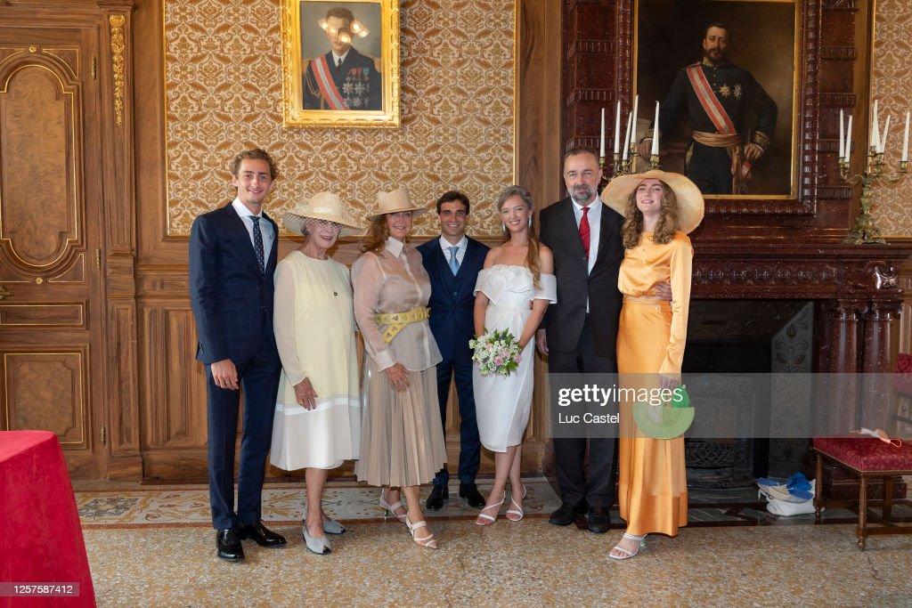 Civil Marriage Of Eleonore Of Habsburg And Jerome D'Ambrosio In Monaco : ニュース写真