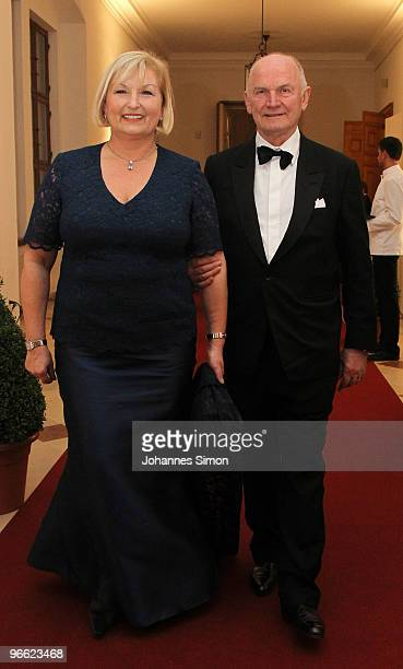 Ferdinand Piech and his wife Ursula arrive for the Hubert Burda Birthday Reception at Munich royal palace on February 12 2010 in Munich Germany