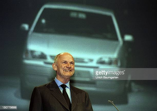 Ferdinand PIECH chairman of the board of management of the Volkswagen AG during his speech at the international automobile show in Frankfurt