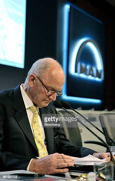 Ferdinand Piech, chairman of the supervisory board of MAN SE, pauses prior to the company's annual shareholders' meeting in Munich, Germany, on...
