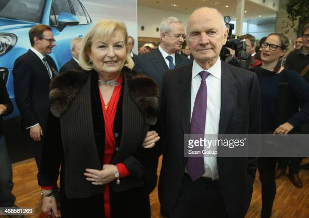 Ferdinand Piech Chairman of the Supervisory Board of Volkwagen Group and his wife Ursula attend the official opening of the new Porsche Macan factory...