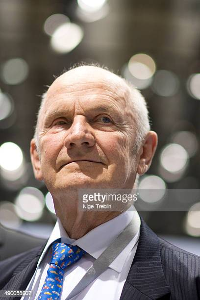 Ferdinand Piech Chairman of the Supervisory Board of Volkwagen Group is pictured ahead of Volkswagen annual shareholder meeting on May 13 2014 in...