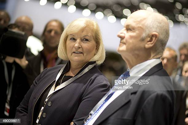Ferdinand Piech Chairman of the Supervisory Board of Volkwagen Group and his wife Ursula stand together ahead of Volkswagen annual shareholder...