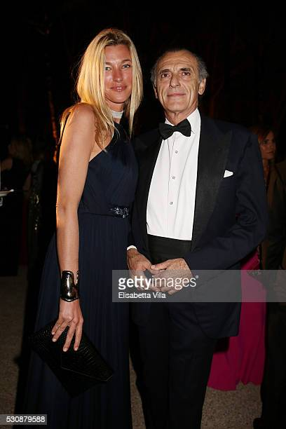 Ferdinando Brachetti Peretti and Countess Nicole Brachetti Peretti attends Tiffany Co celebration of the opening of its new store in Rome at at Villa...