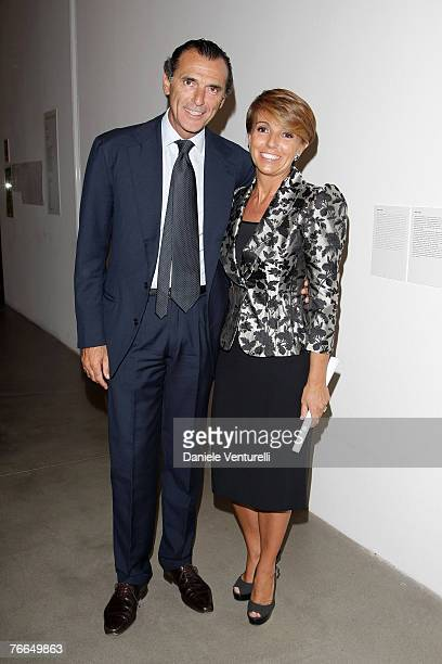 Ferdinando Brachetti Peretti and Patrizia attends the Sandretto King Rebaudengo Foundation Star Prize 2007 on September 10 2007 in Turin Italy
