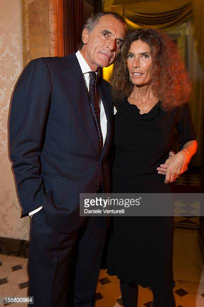 Ferdinando Brachetti Peretti and Rosy Grieco attend 'La Mia Libia' Gala Dinner as part of the 7th Rome Film Festival at Palazzo Ferrajoli on November...
