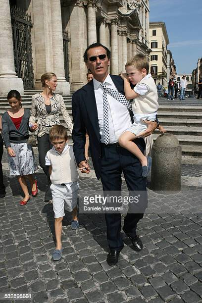 Ferdinando Brachetti Peretti during Elle Macpherson and Arpad Busson in Rome for the Baptism of their Son Aurelius cy Andrea at Basilica Santa Maria...
