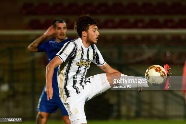 Ferdinando Del Sole of Juventus U23 in action during the Serie C match between Juventus U23 and Como at Stadio Giuseppe Moccagatta on October 28,...