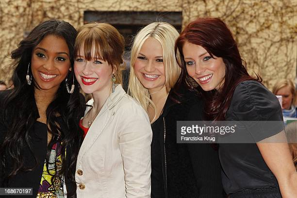 Fereba Kone Kristina Schmidt Alicia Endemann and Franziska Alber At The End Of The Germany premiere House of Anubis Path The 7 sins in Berlin