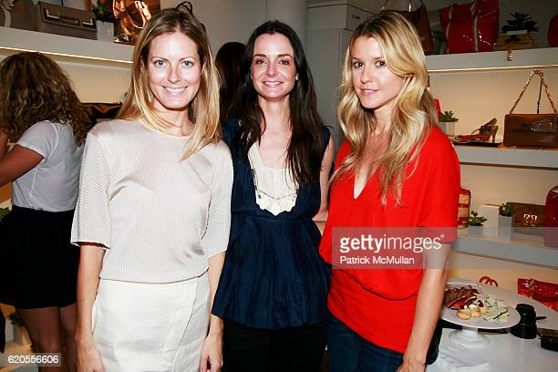 Ferebee Bishop Taube Annie Churchill and Eleanor Ylvisaker attend ANYA HINDMARCH Celebrates Fashion Week with Tea Tipples at Anya Hindmarch Showroom...