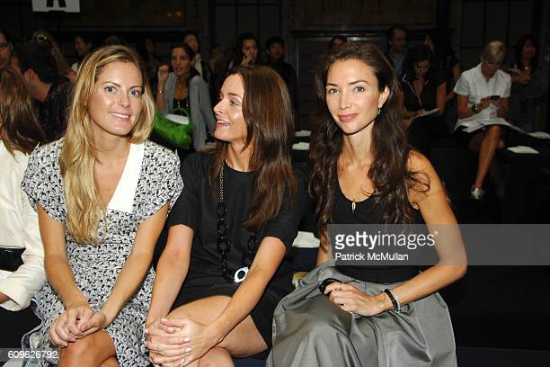 Ferebee Bishop Taube Annie Churchill and Olivia Chantecaille attend MALO Spring 2008 Collection at New York Public Library on September 10 2007 in...