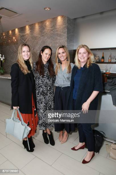 Ferebee Taube Courtney Corleto Annie Taube and Leslie Henne during the Saks Fifth Avenue and The Society of Memorial Sloan Kettering Luncheon on...