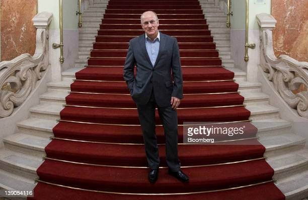 Ferenc Gerhardt a member of the monetary council at the Magyar Nemzeti Bank Hungary's central bank poses for a photograph inside the bank's...