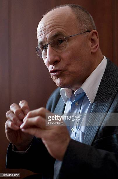 Ferenc Gerhardt a member of the monetary council at the Magyar Nemzeti Bank Hungary's central bank speaks during an interview at the bank's...