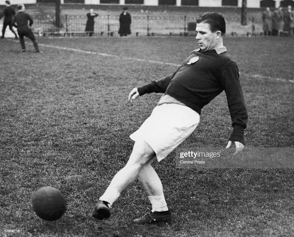 Ferenc Puskas, captain of the 'Magic Magyars' Hungarian national team, in training at Craven Cottage, the Fulham FC ground, for an upcoming match at Wembley, 23rd November 1953.