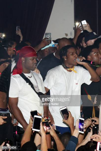 A$AP Ferg and A$AP Rocky perform during the ASAP Mob Album Release Show at Highline Ballroom on August 24 2017 in New York City