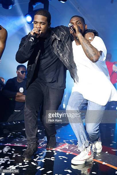 Ferg and ASAP Mob perform onstage at the Samsung Milk Music Lounge featuring A$AP Rocky on March 19 2015 in Austin Texas