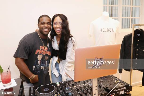 Ferg and DJ Kitty Cash attends The Webster Celebrates Exclusive Launch Of A$AP Ferg X AGOLDE Collection at The Webster on July 20 2017 in Miami...