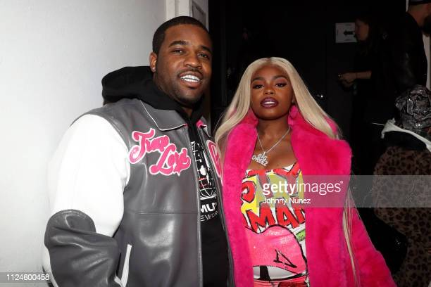 Ferg and Dreezy backstage at Stoop Talks with A$AP Rocky Dapper Dan at Terminal 5 on February 12 2019 in New York City