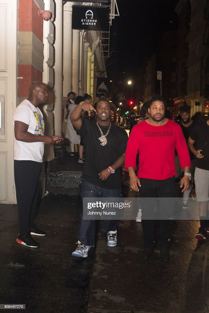 Ferg (c) attends the A$AP Ferg And Clothing Brand Uniform Launch Pop-Up Shop on August 18, 2017 in New York City.