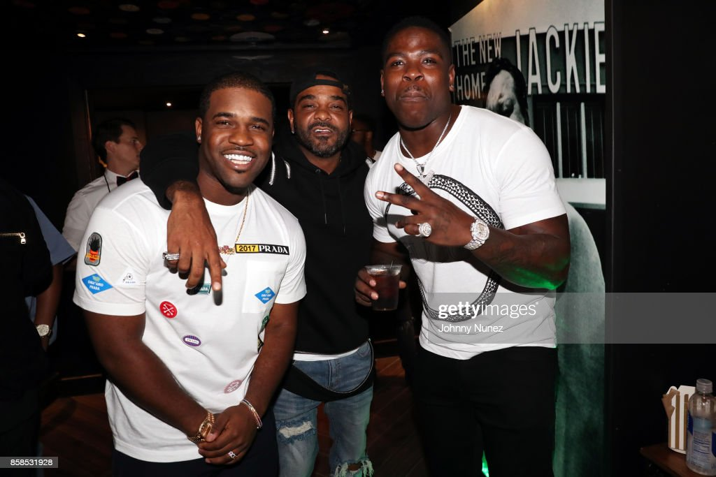 Ferg, Jim Jones, and Casanova arrive at the 2017 BET Hip Hop Awards on October 6, 2017 in Miami Beach, Florida.