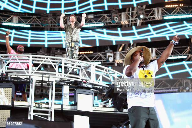 Ferg performs with Murda Beatz at Sahara Tent during the 2019 Coachella Valley Music And Arts Festival on April 13 2019 in Indio California