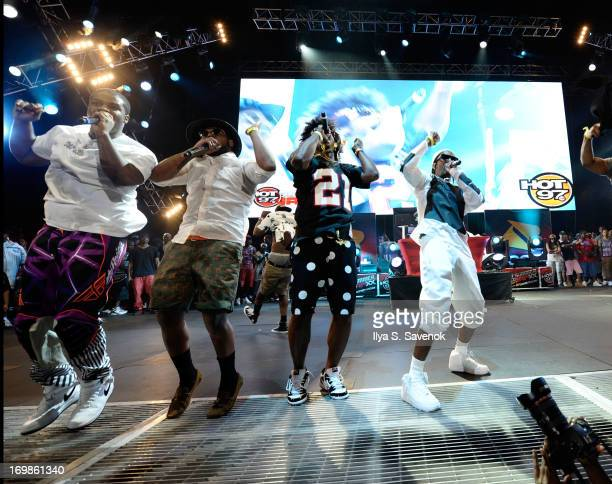 A$AP Ferg Schoolboy Q Trinidad James and A$AP Rocky perform during HOT 97 Summer Jam XX at MetLife Stadium on June 2 2013 in East Rutherford New...