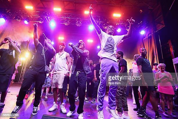 Ferg Swizz Beatz ASAP Rocky and guests perform onstage as BACARDI and Swizz Beatz' The Dean Collection present No Commission Art Performs Day 1 on...