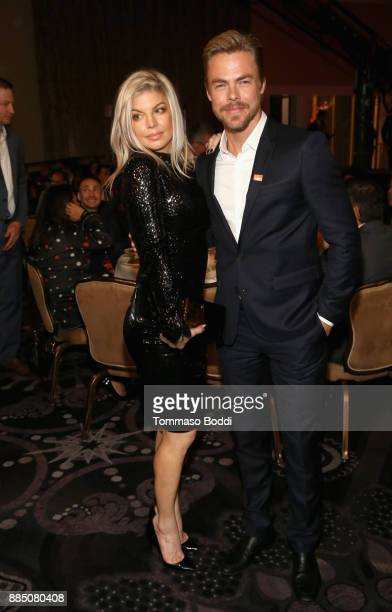 Fergie and Derek Hough attend The Trevor Project's 2017 TrevorLIVE LA Gala at The Beverly Hilton Hotel on December 3 2017 in Beverly Hills California