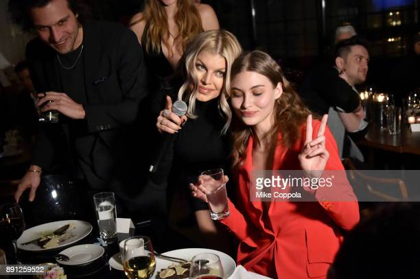 Fergie and Grace Elizabeth attend the CR Fashion Book Celebrating launch of CR Girls 2018 with Technogym at Spring Place on December 12 2017 in New...