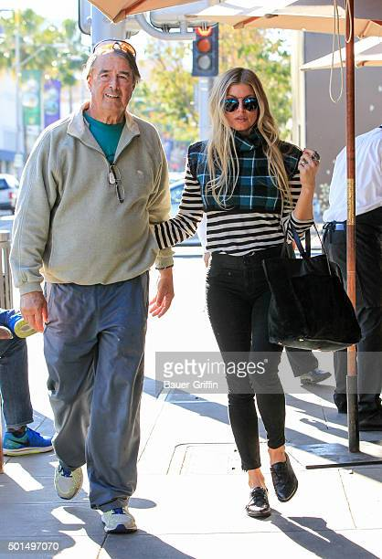 Fergie and her father Jon Patrick Ferguson are seen on December 15 2015 in Los Angeles California