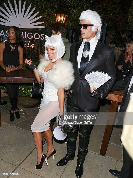 Fergie and Josh Duhamel are seen attending the Casamigos Tequila Halloween Party on October 30 2015 in Los Angeles California