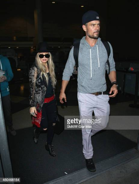 Fergie and Josh Duhamel are seen on June 11 2014 in Los Angeles California