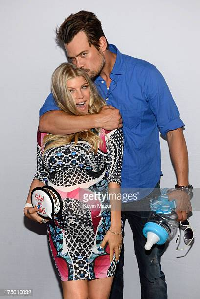 Fergie and Josh Duhamel attend Ferg's Gayby Shower at the SLS Hotel on July 28 2013 in Beverly Hills California