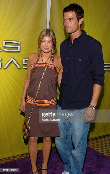 Fergie and Josh Duhamel during NBC Cocktail Party for 'Las Vegas' at TCA Arrivals at Beverly Hilton Hotel in Beverly Hills California United States