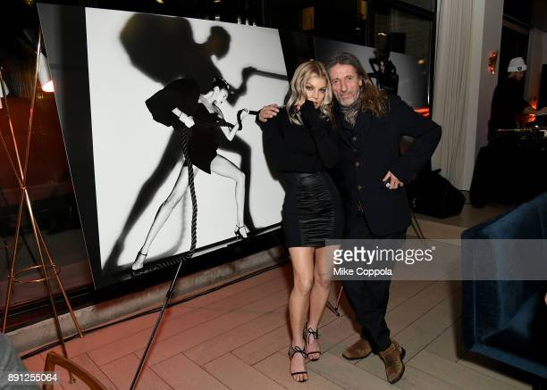 Fergie and Julien d'Ys attend the CR Fashion Book Celebrating launch of CR Girls 2018 with Technogym at Spring Place on December 12 2017 in New York...