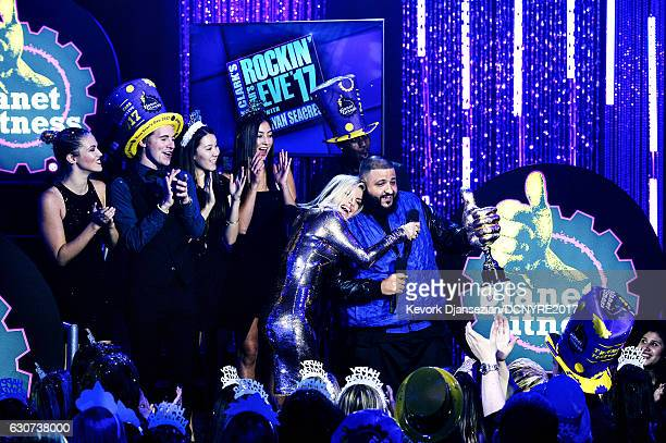 Fergie and record producer DJ Khaled host Dick Clark's New Year's Rockin' Eve with Ryan Seacrest on December 31 2016 in Los Angeles California