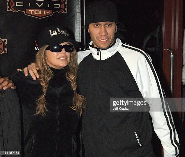Fergie and Taboo of the Black Eyed Peas during Black Eyed Peas 'Honda Civic Tour' at Gibson Ampitheatre in Los Angeles Backstage Day 2 at Gibson...