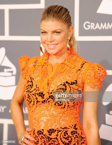 Fergie arrives at The 54th Annual GRAMMY Awards at Staples Center on February 12, 2012 in Los Angeles, California.