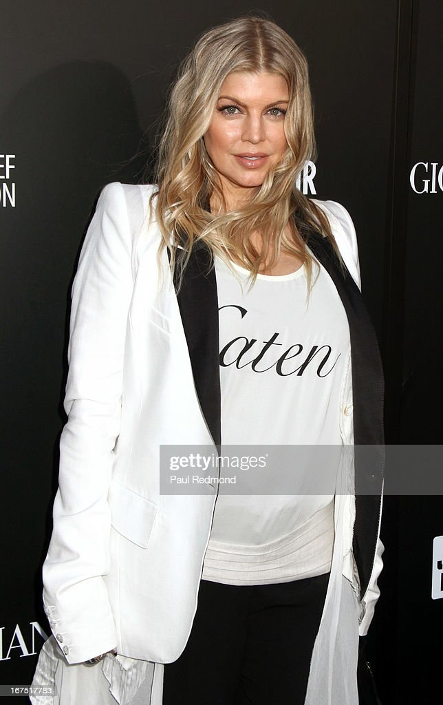 Fergie arrives at the Armani party during Paris Photo LA - Opening Night at Paramount Studios on April 25, 2013 in Hollywood, California.