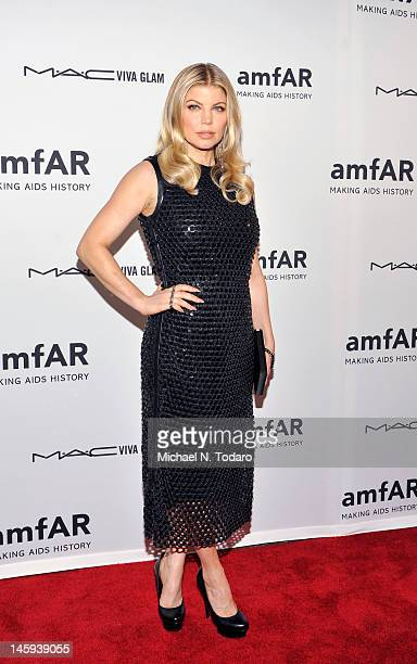 Fergie attends the 3rd annual amfAR Inspiration Gala New York at The New York Public Library - Stephen A. Schwarzman Building on June 7, 2012 in New...