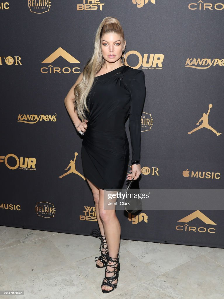 Fergie attends The Four cast Sean Diddy Combs, Fergie, and Meghan Trainor Host DJ Khaled's Birthday Presented by CÎROC and Fox on December 2, 2017 in Beverly Hills, California.