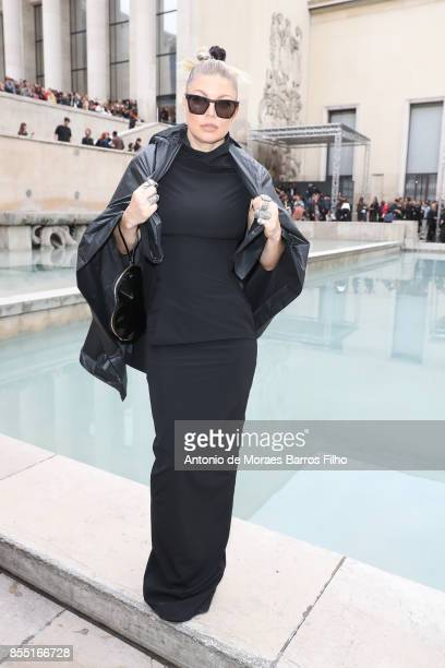 Fergie attends the Rick Owens show as part of the Paris Fashion Week Womenswear Spring/Summer 2018 on September 28 2017 in Paris France