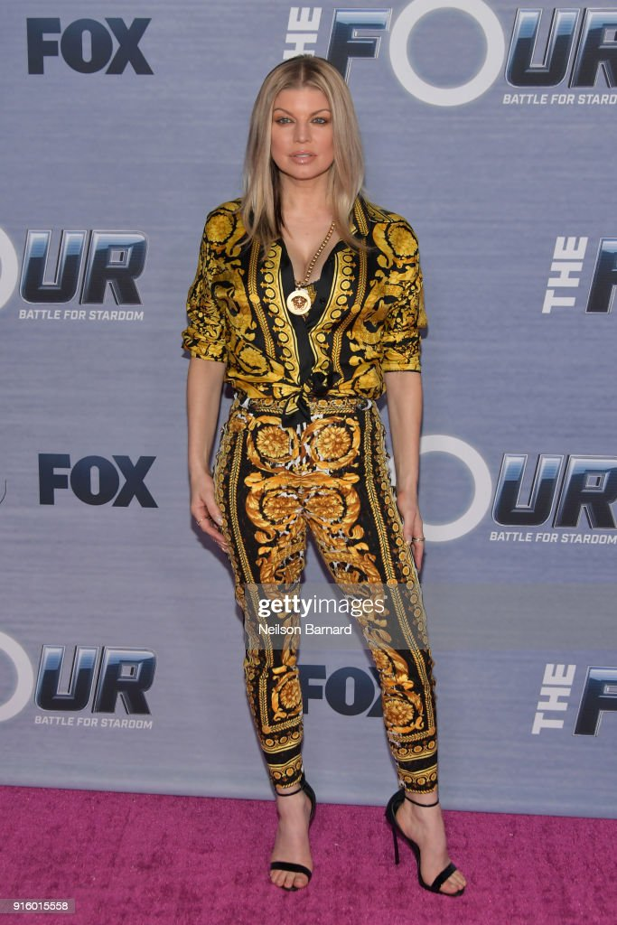 Fergie attends the season finale viewing party for FOX's 'The Four' at Delilah on February 8, 2018 in West Hollywood, California.