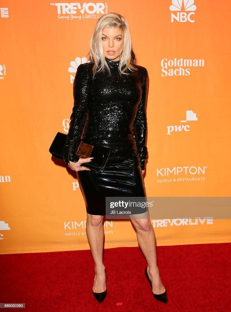 Fergie attends The Trevor Project's 2017 TrevorLIVE LA on December 3, 2017 in Beverly Hills, California.