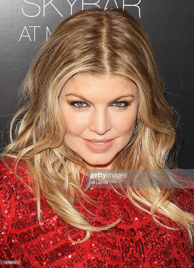 Fergie attends the Voli Light Vodka Benefit at SkyBar at the Mondrian Los Angeles on December 6, 2012 in West Hollywood, California.