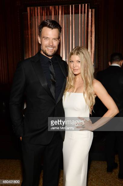 Fergie Duhamel and Josh Duhamel attend the amfAR Inspiration Gala New York 2014 at The Plaza Hotel on June 10 2014 in New York City