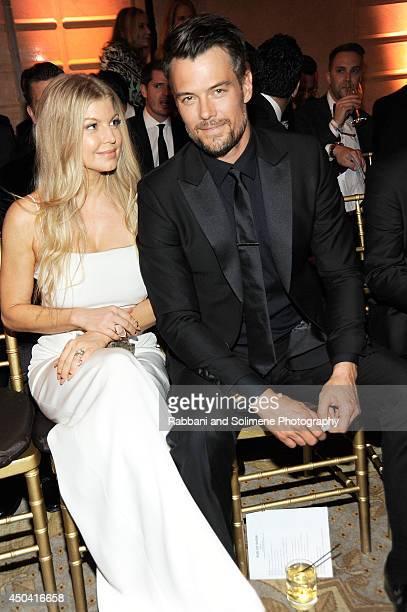 Fergie Duhamel and Josh Duhamel attend the amfAR Inspiration Gala New York 2014 at The Plaza Hotel on June 10 2014 in New York City