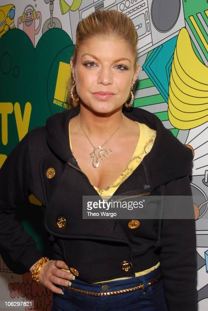 """Fergie during Ashley Tisdale, Fergie, Lloyd and Timbaland Visit MTV's """"TRL"""" - February 7, 2007 at MTV Studios in New York City, New York, United..."""
